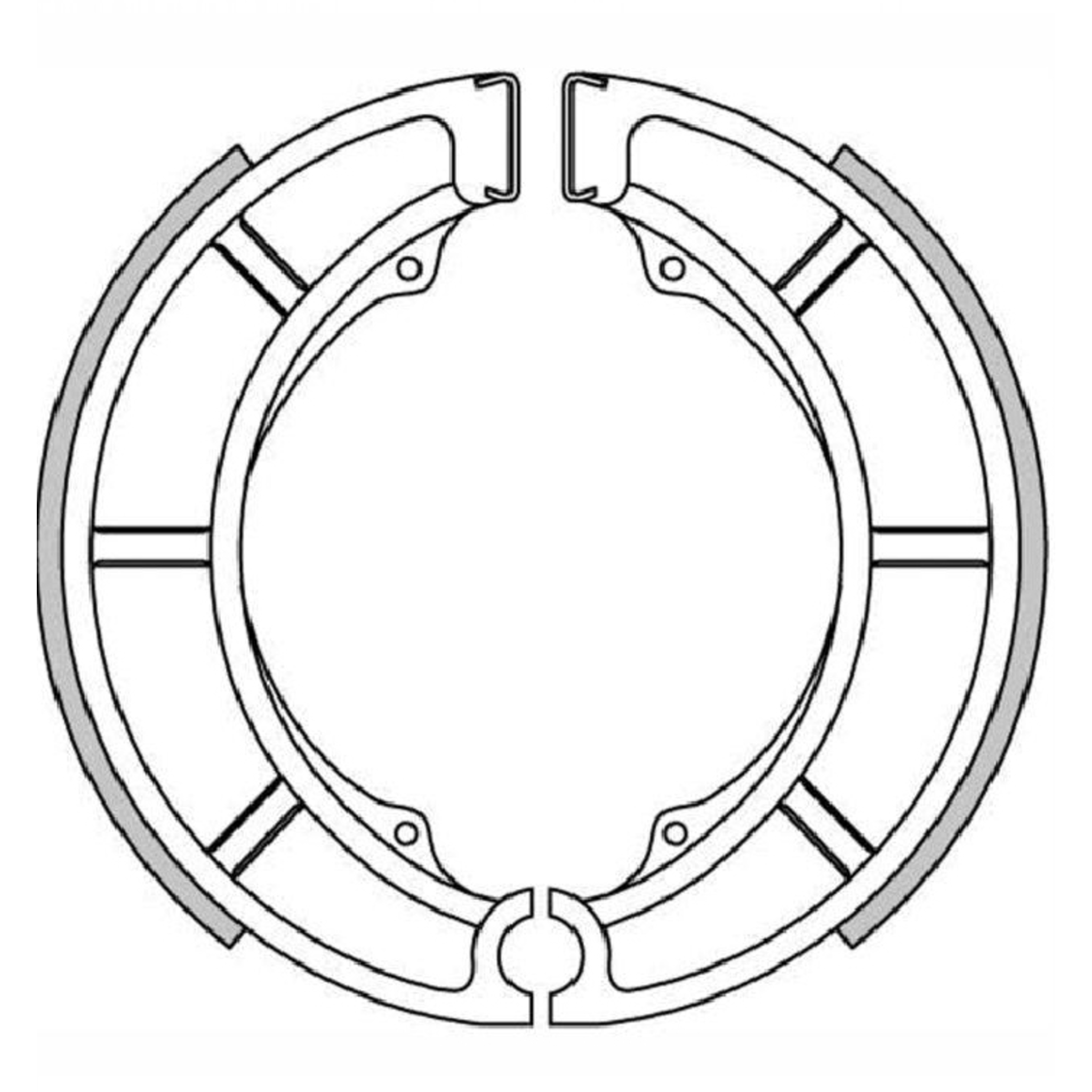 Тормозные колодки барабанные, FERODO(FSB719)