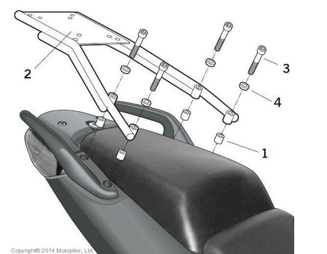 Крепление верхнего кофра на Honda CBF 1000 - 10/13