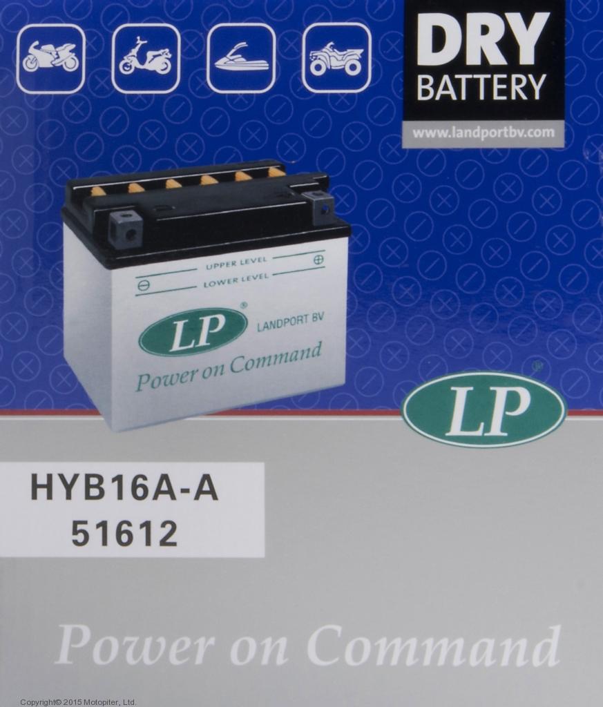 Аккумулятор Landport HYB16A-AB, 12V, DRY
