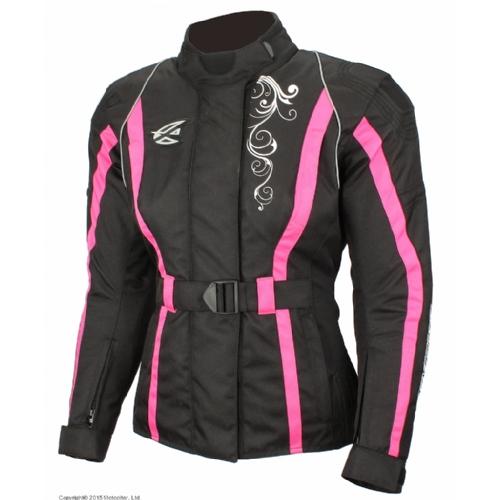 Текстильная женская куртка Mistic черно-розовая