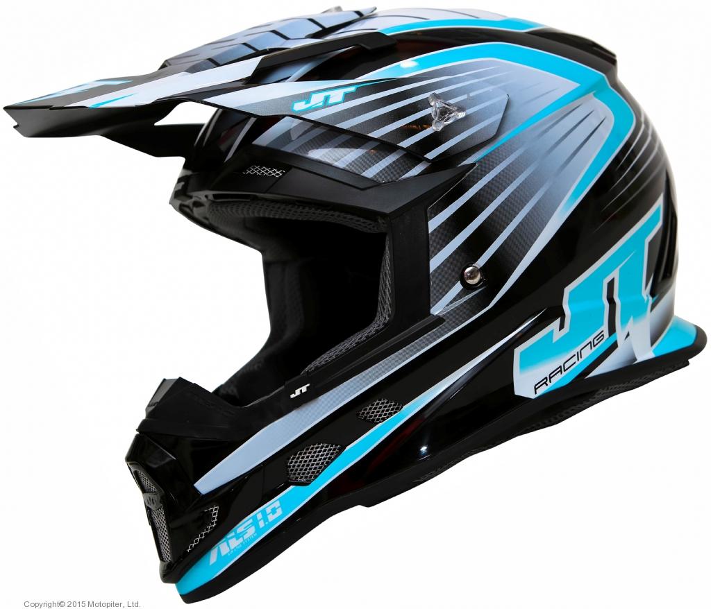 Шлем кроссовый  ALS1.0 черно-голубой