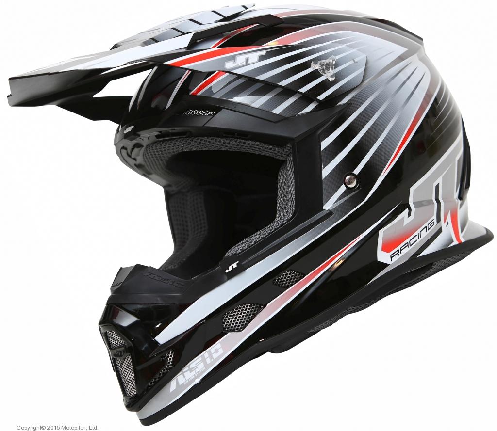 Шлем кроссовый  ALS1.0 черно-серый