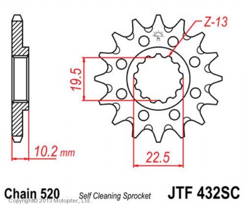 Звезда ведущая , JT 432.13SC