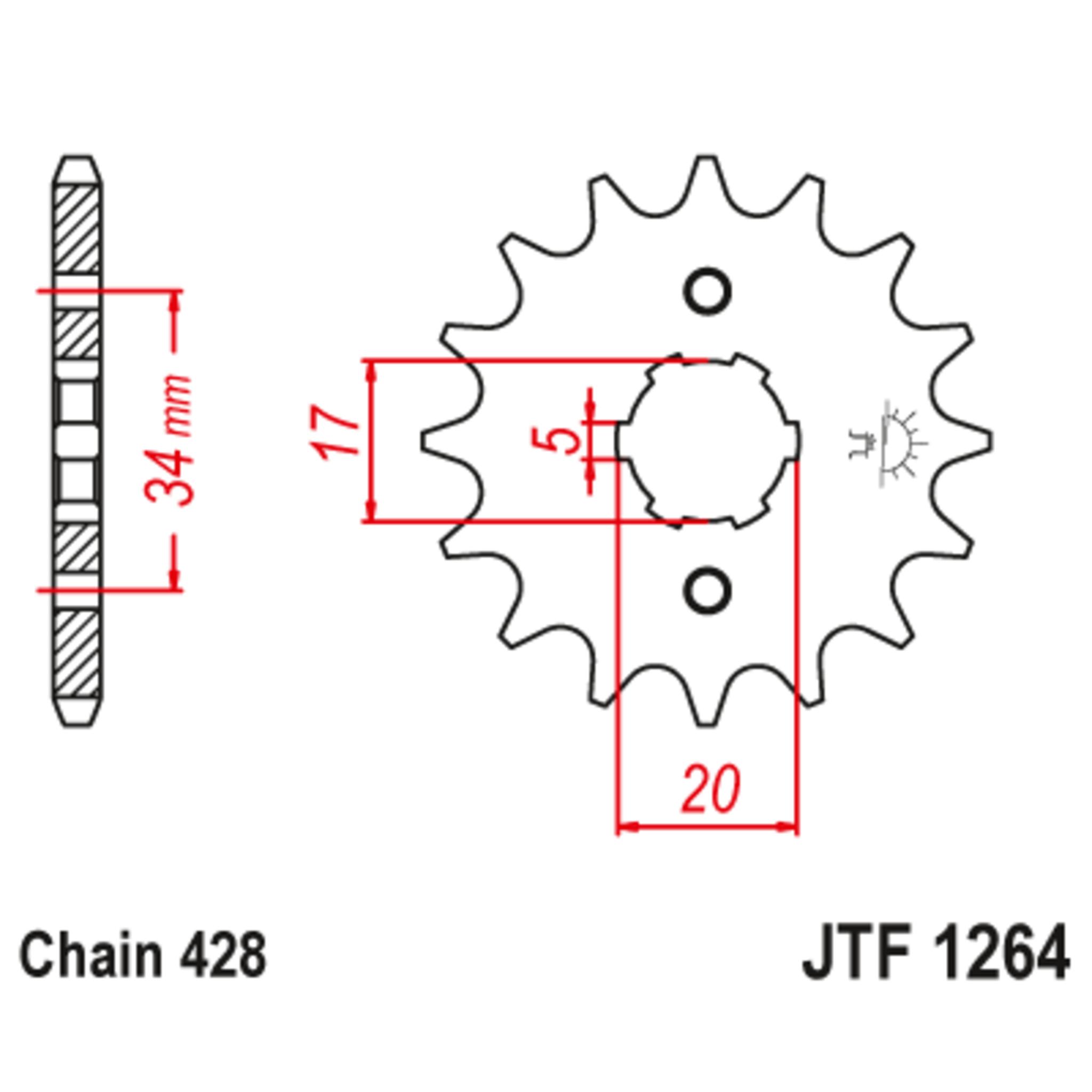 Звезда ведущая , JT 1264.17