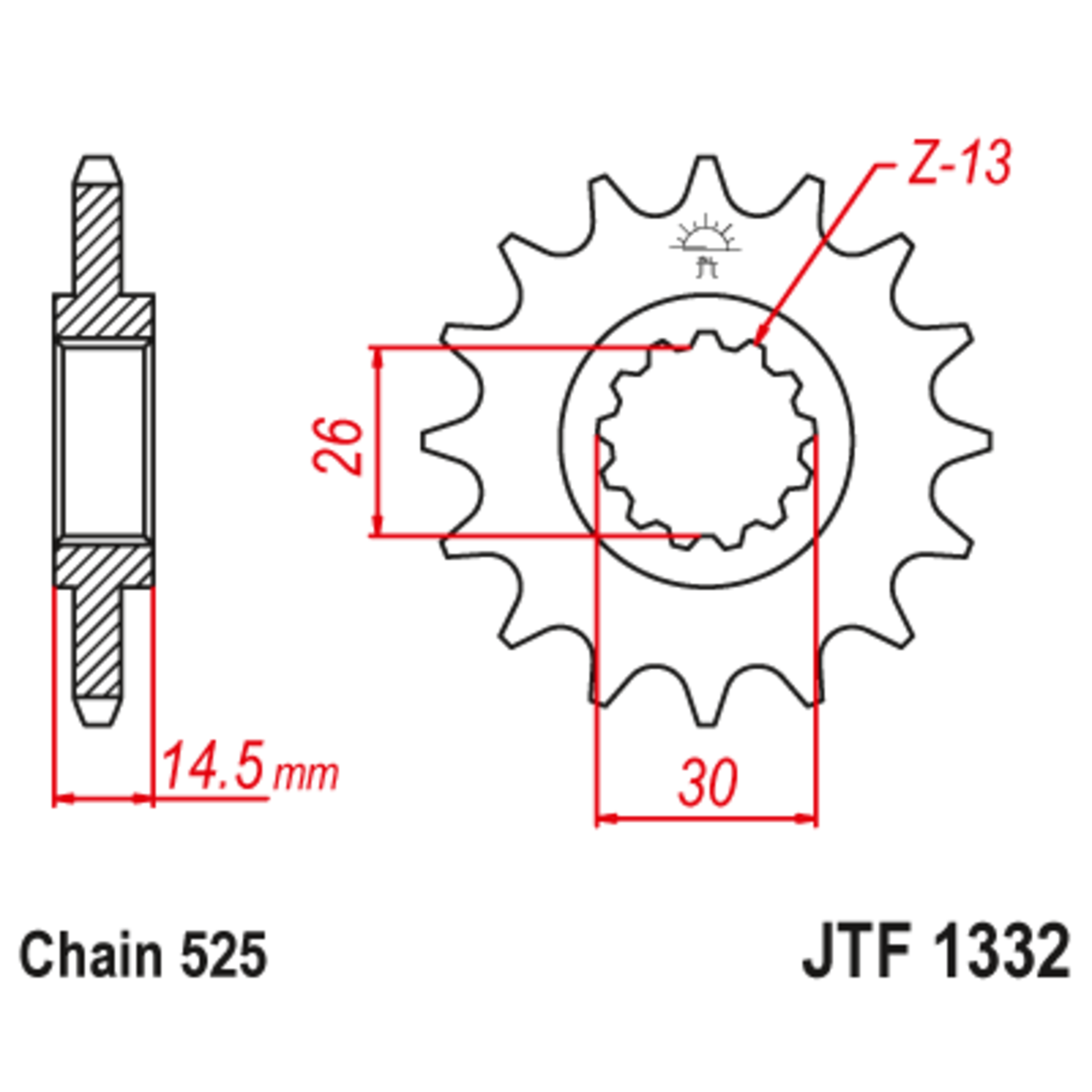 Звезда ведущая , JT 1332.15