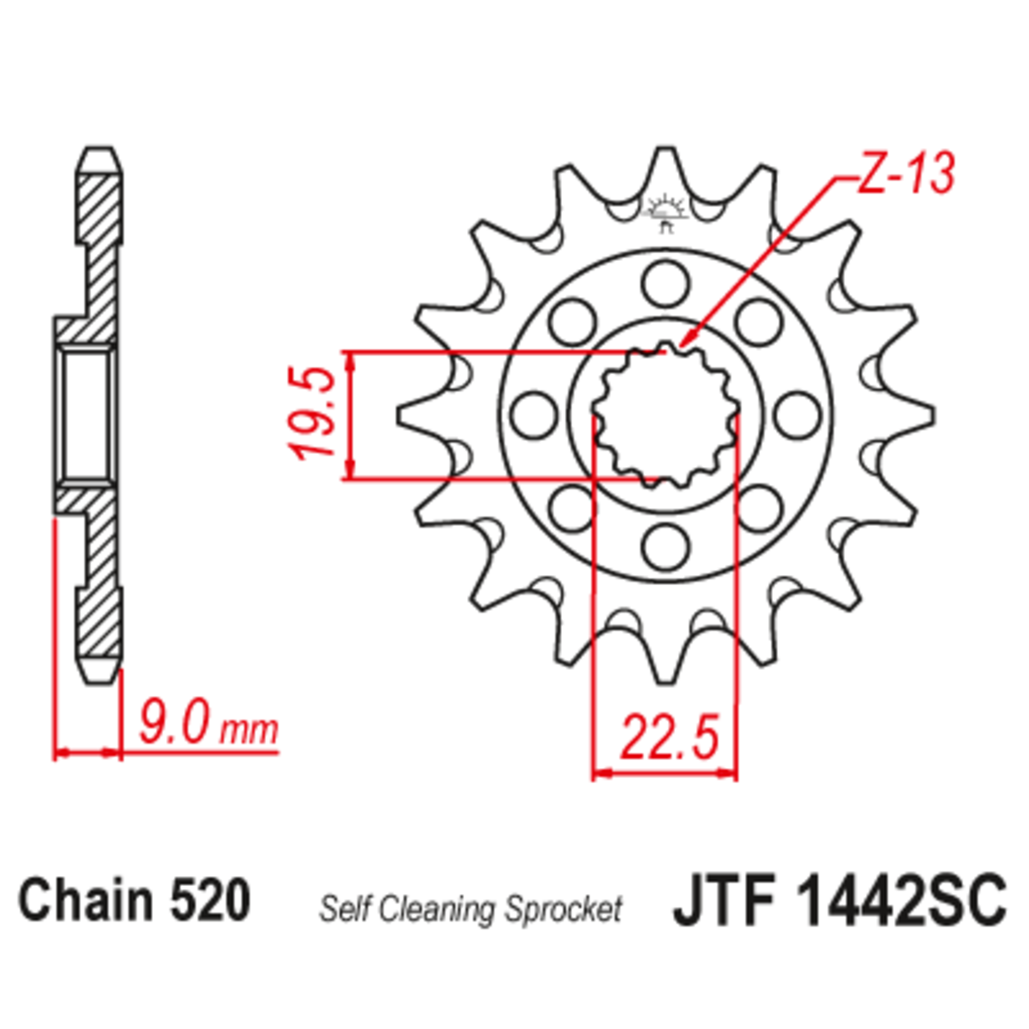 Звезда ведущая , JT 1442.14SC