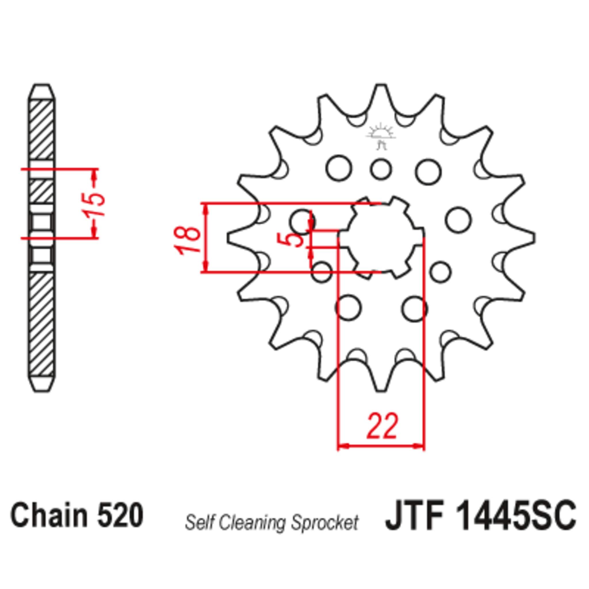 Звезда ведущая , JT 1445.13SC