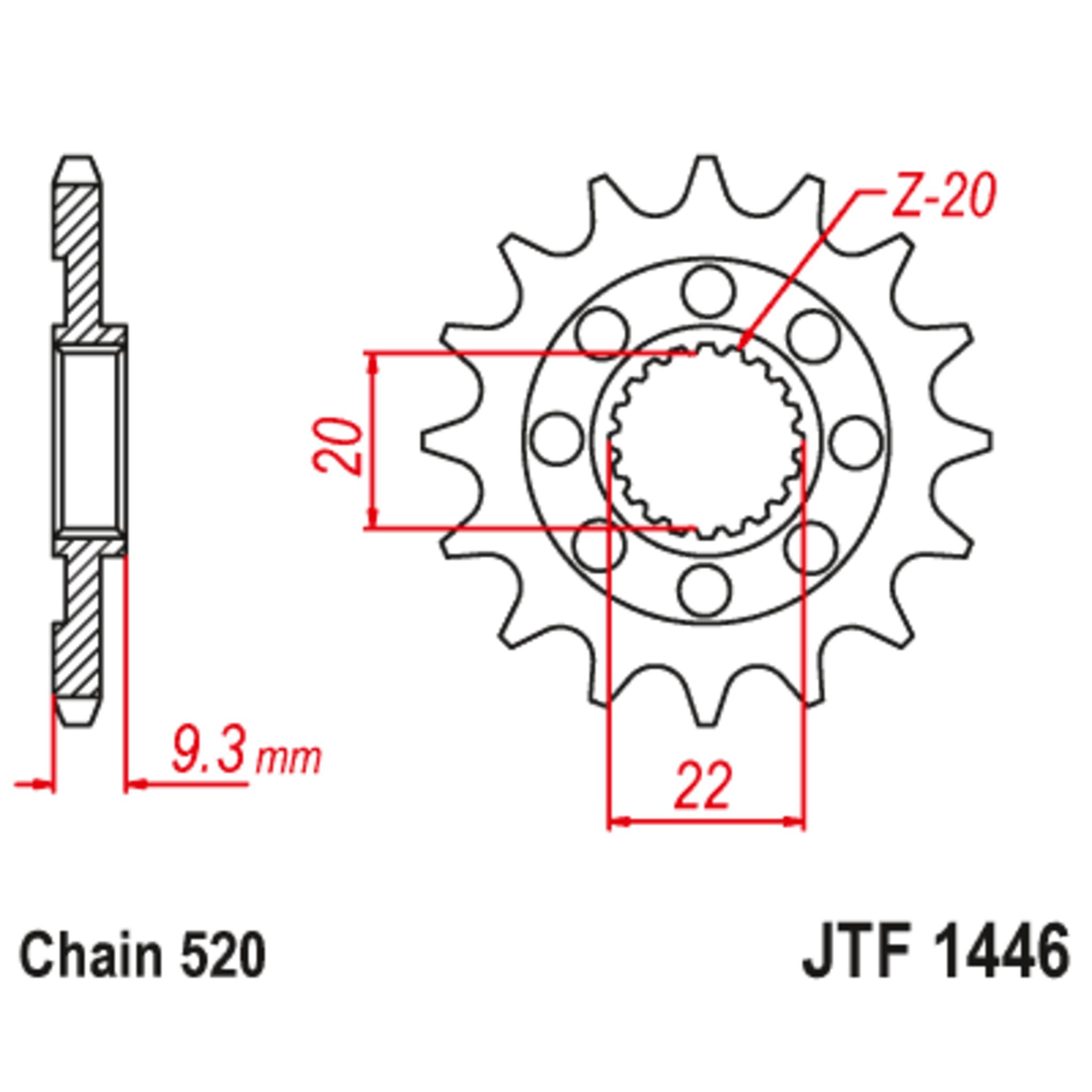 Звезда ведущая , JT 1446.14SC