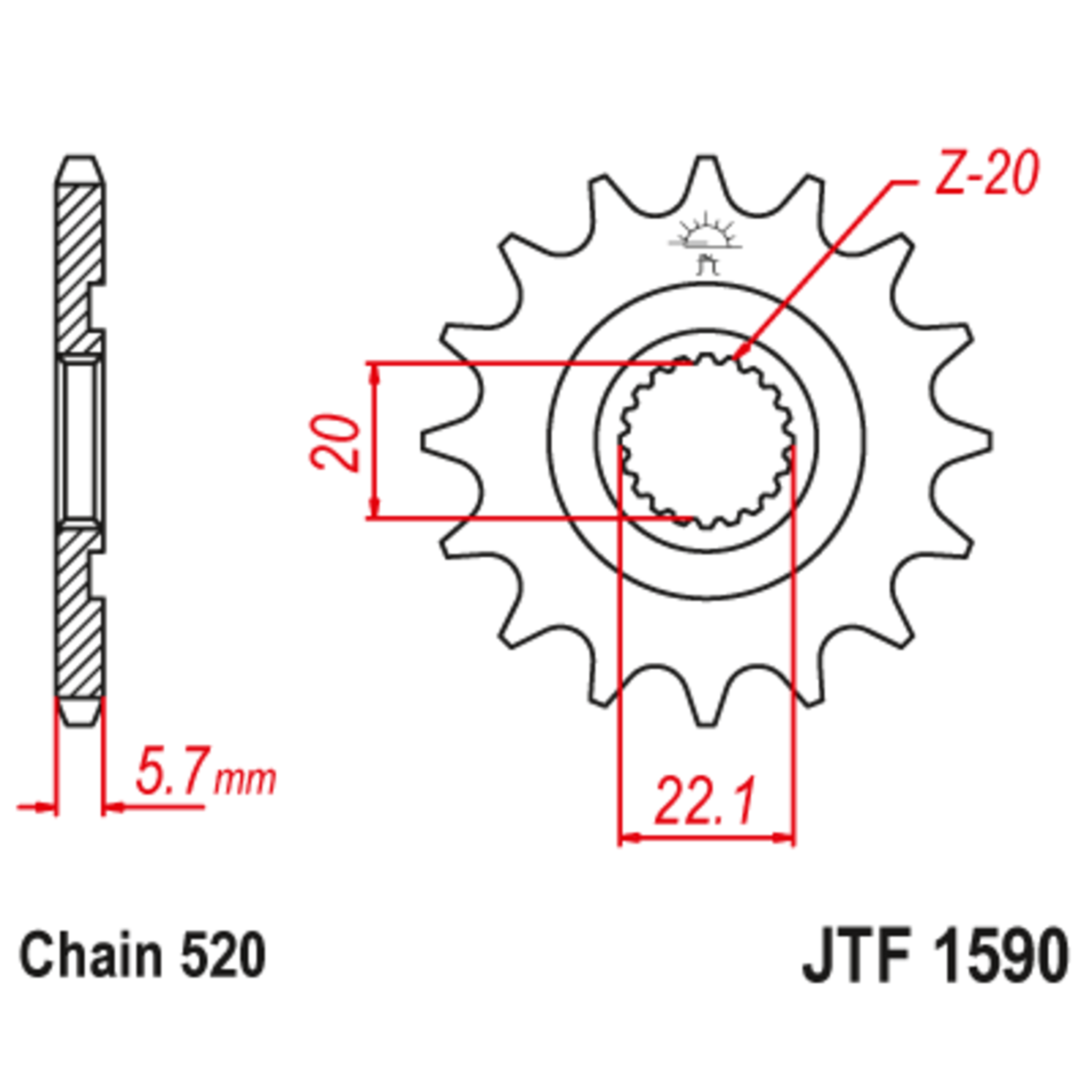 Звезда ведущая , JT 1590.12