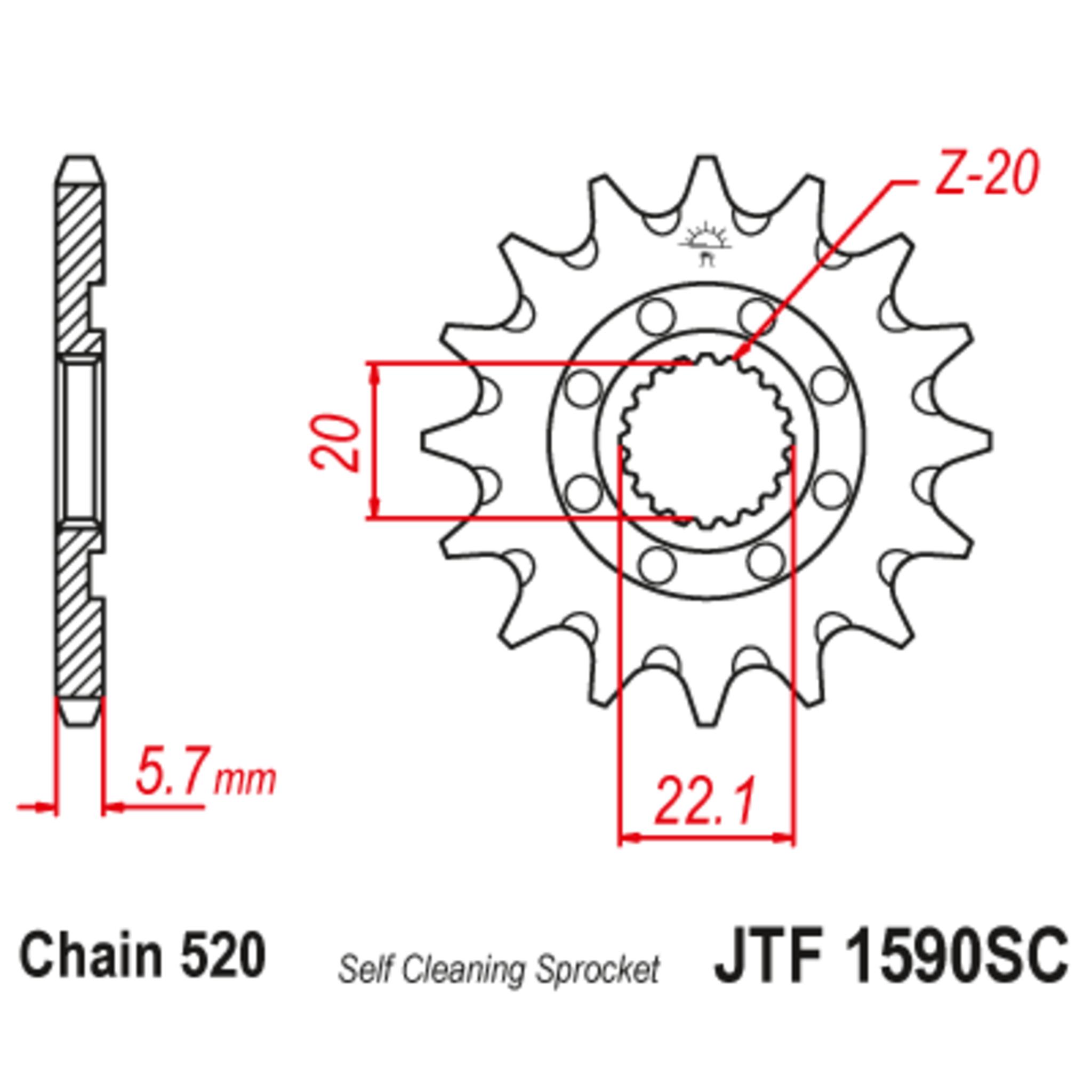 Звезда ведущая , JT 1590.14SC