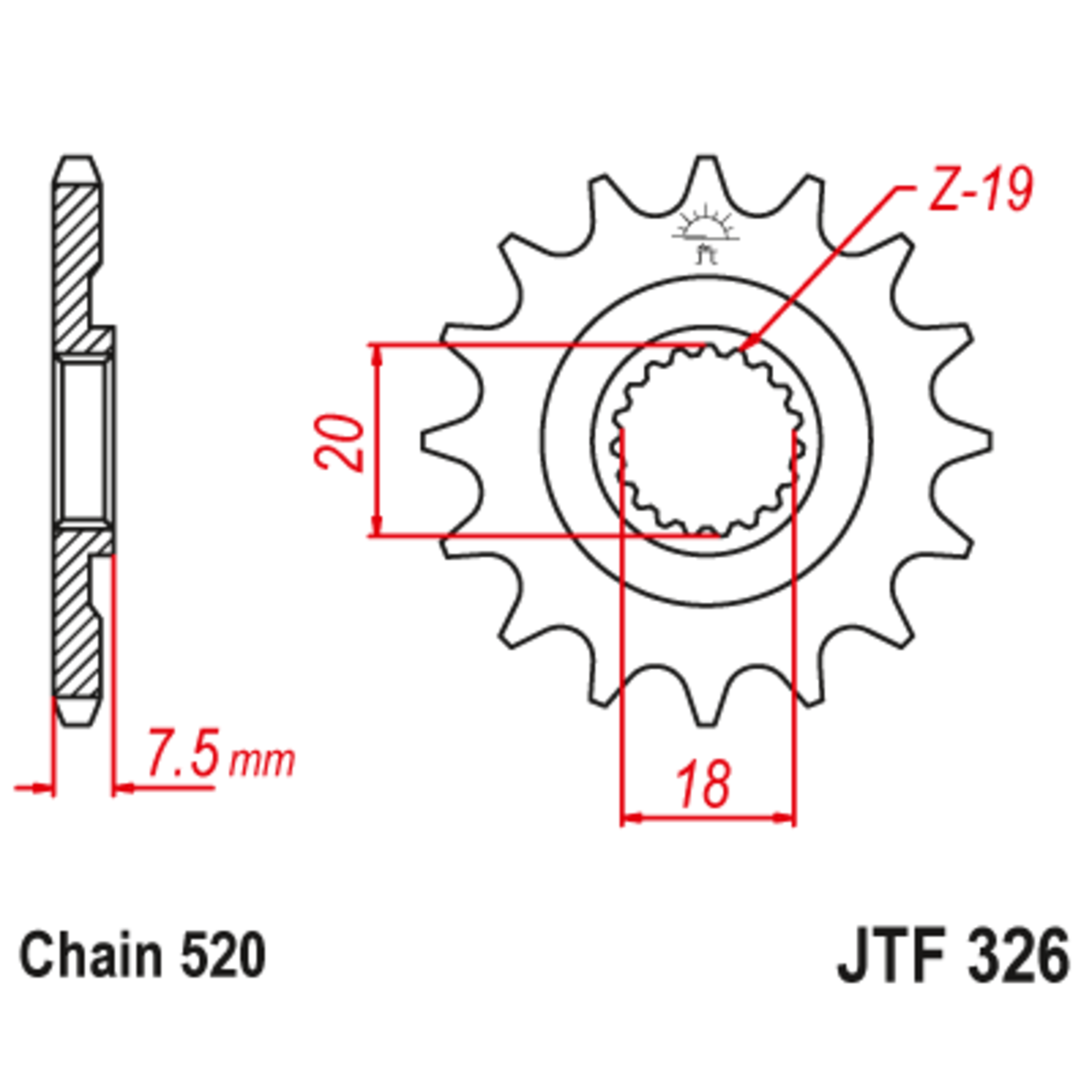 Звезда ведущая , JT 326.14