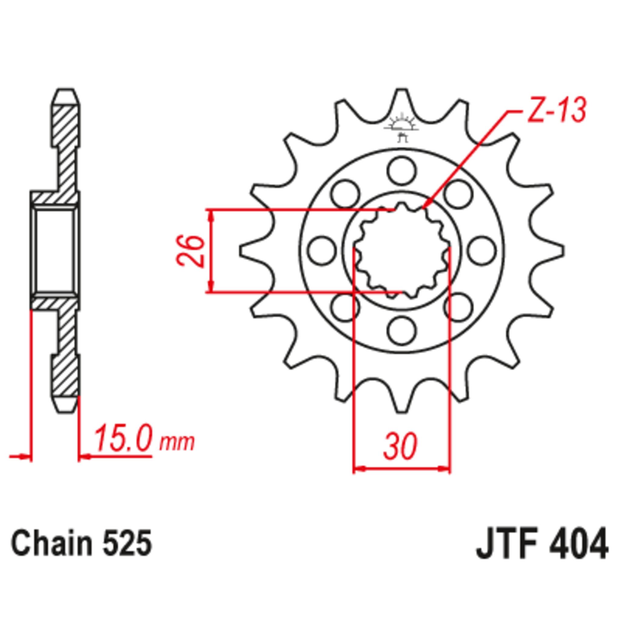 Звезда ведущая , с демпфером, JT 404.17RB