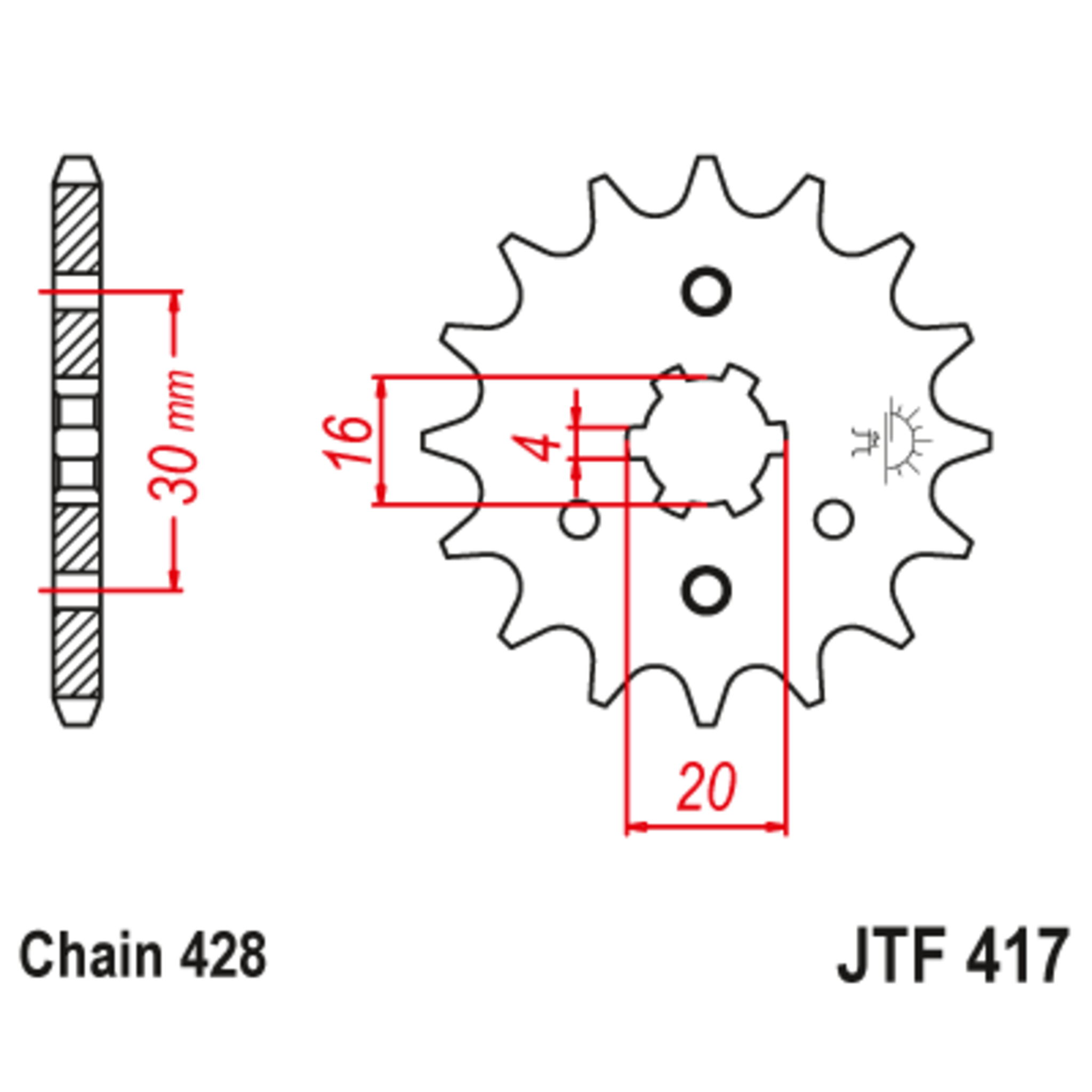 Звезда ведущая , JT 417.14