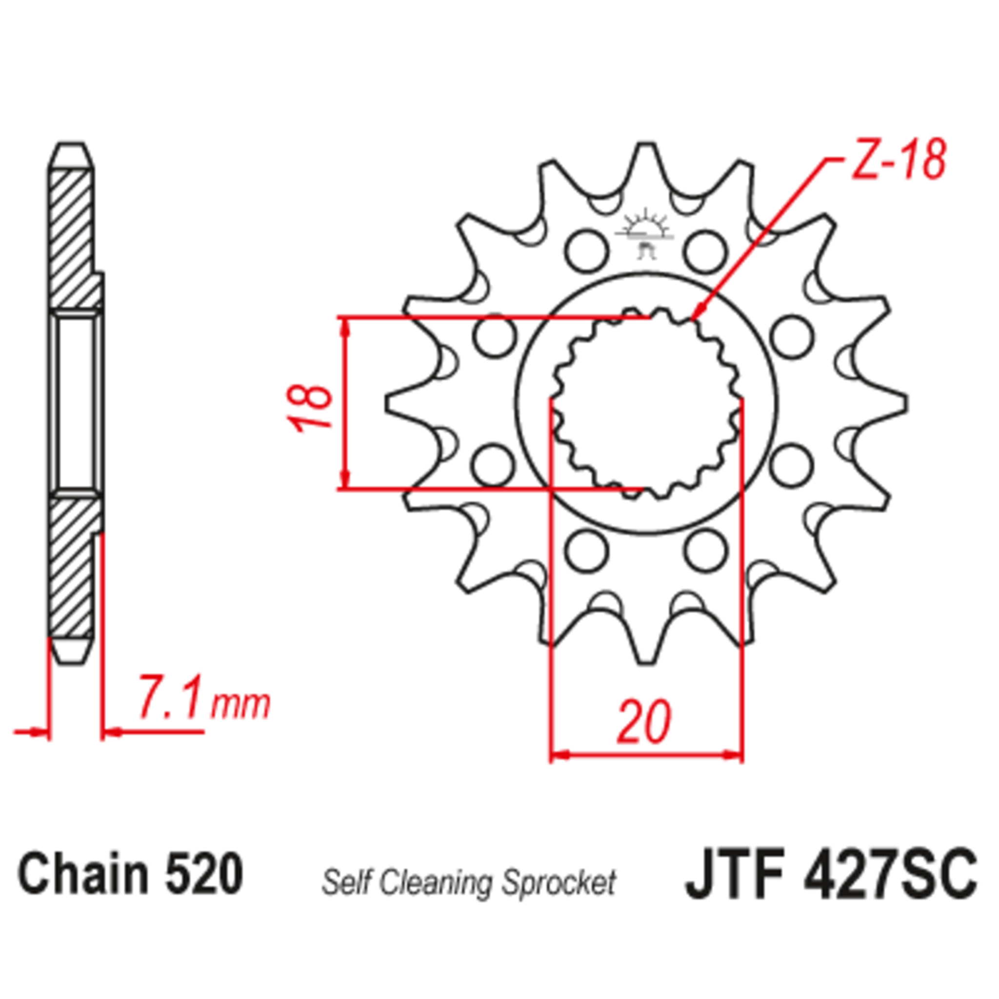 Звезда ведущая , JT 427.12SC