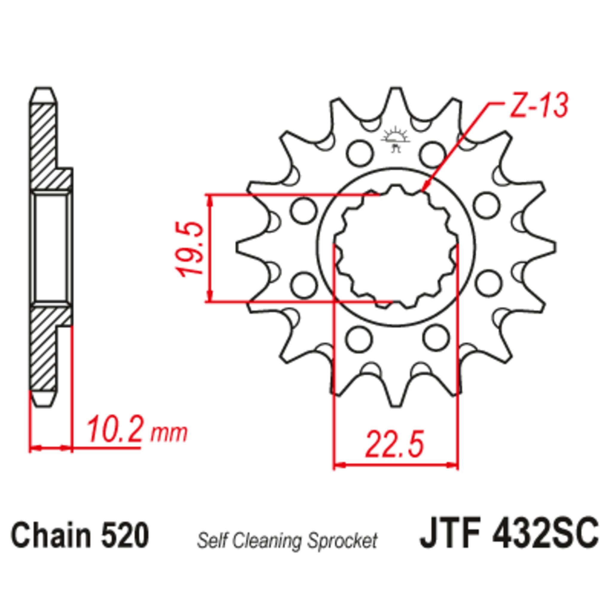 Звезда ведущая , JT 432.14SC