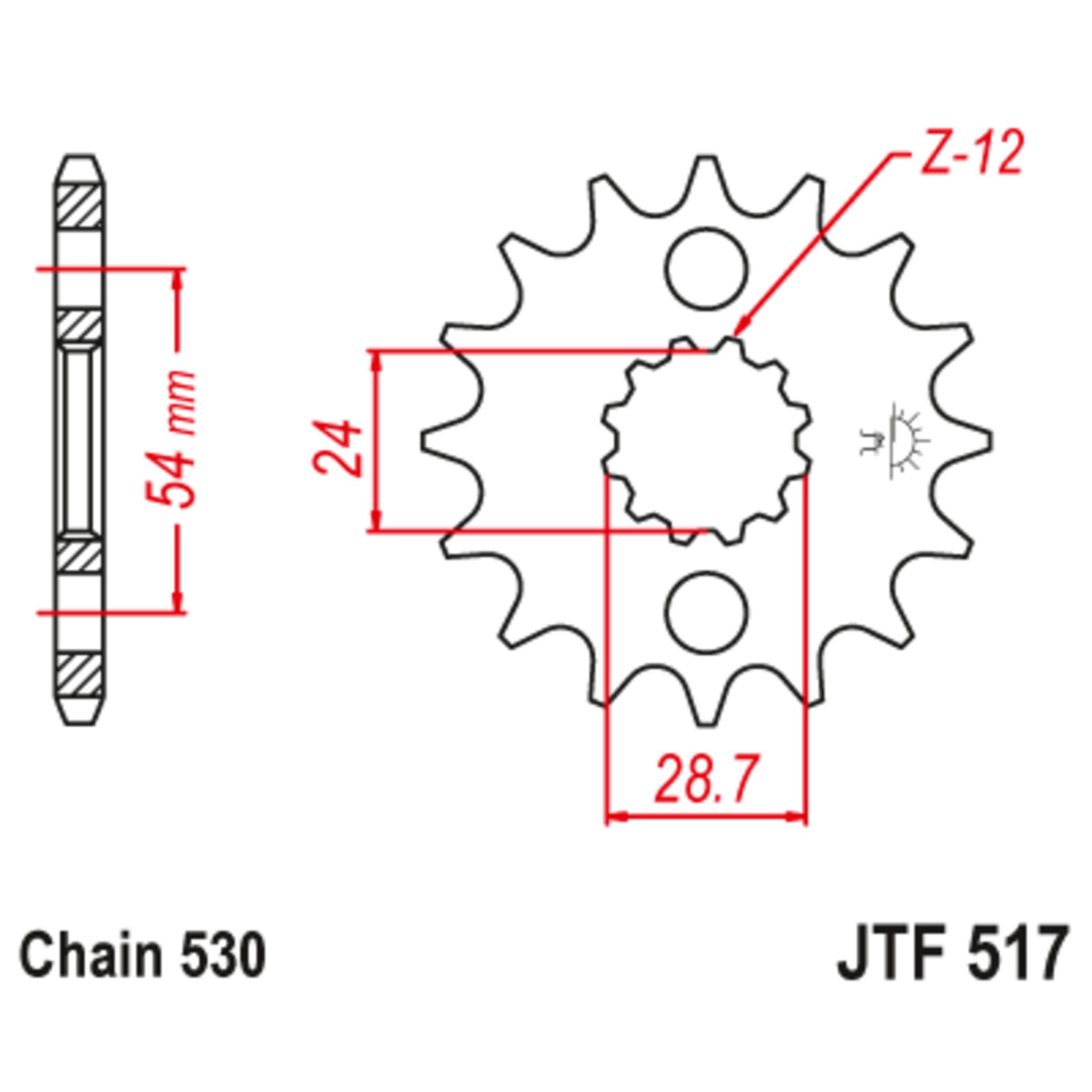 Звезда ведущая , с демпфером, JT 517.17RB