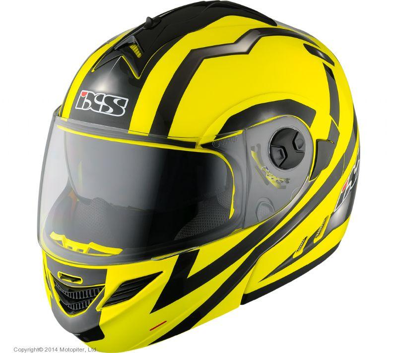 Шлем модуляр HX333 STROKE желто-черный