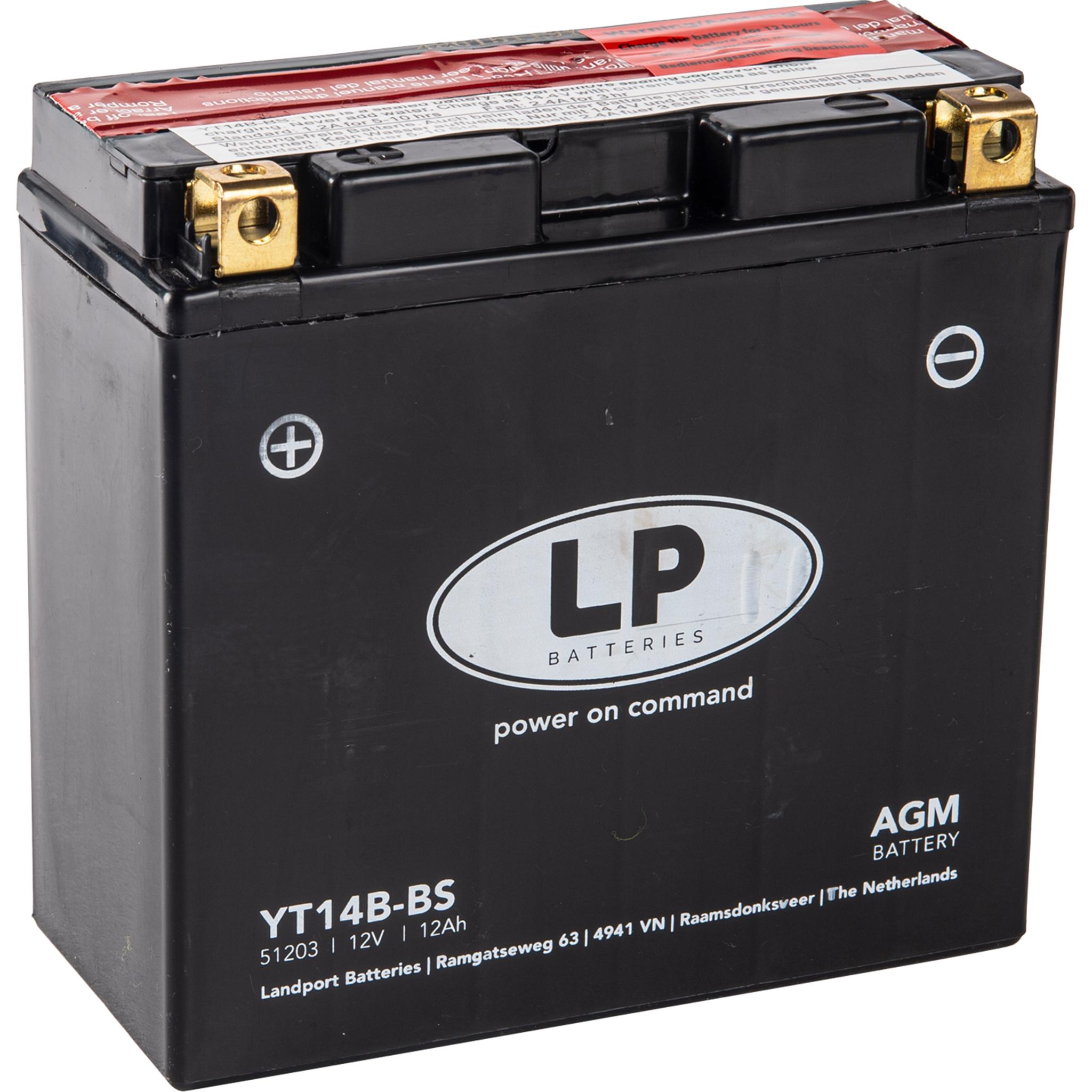 Аккумулятор Landport YT14B-BS, 12V, AGM