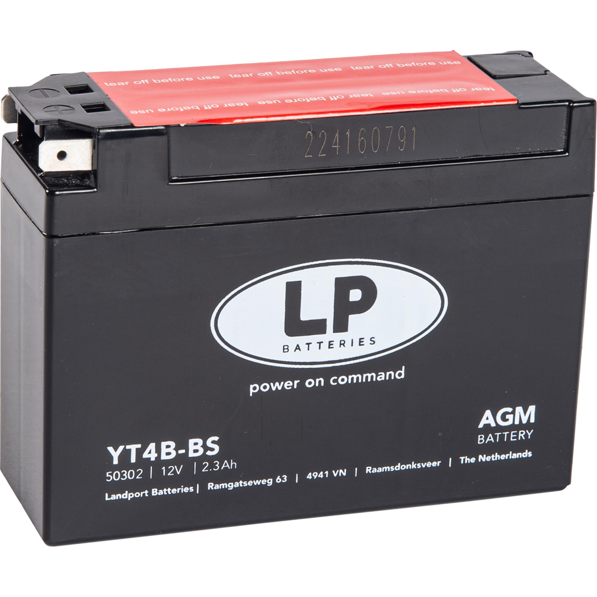Аккумулятор Landport YT4B-BS, 12V, AGM