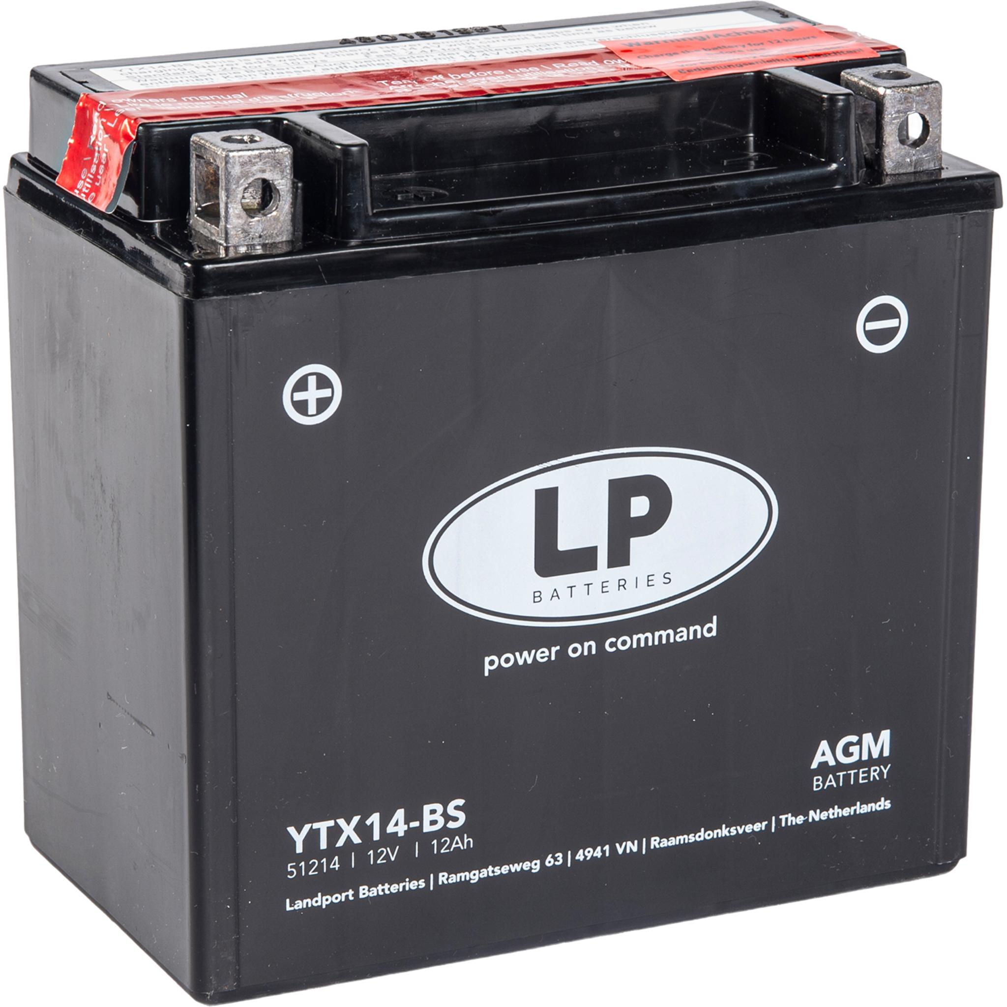 Аккумулятор Landport YTX14-BS, 12V, AGM