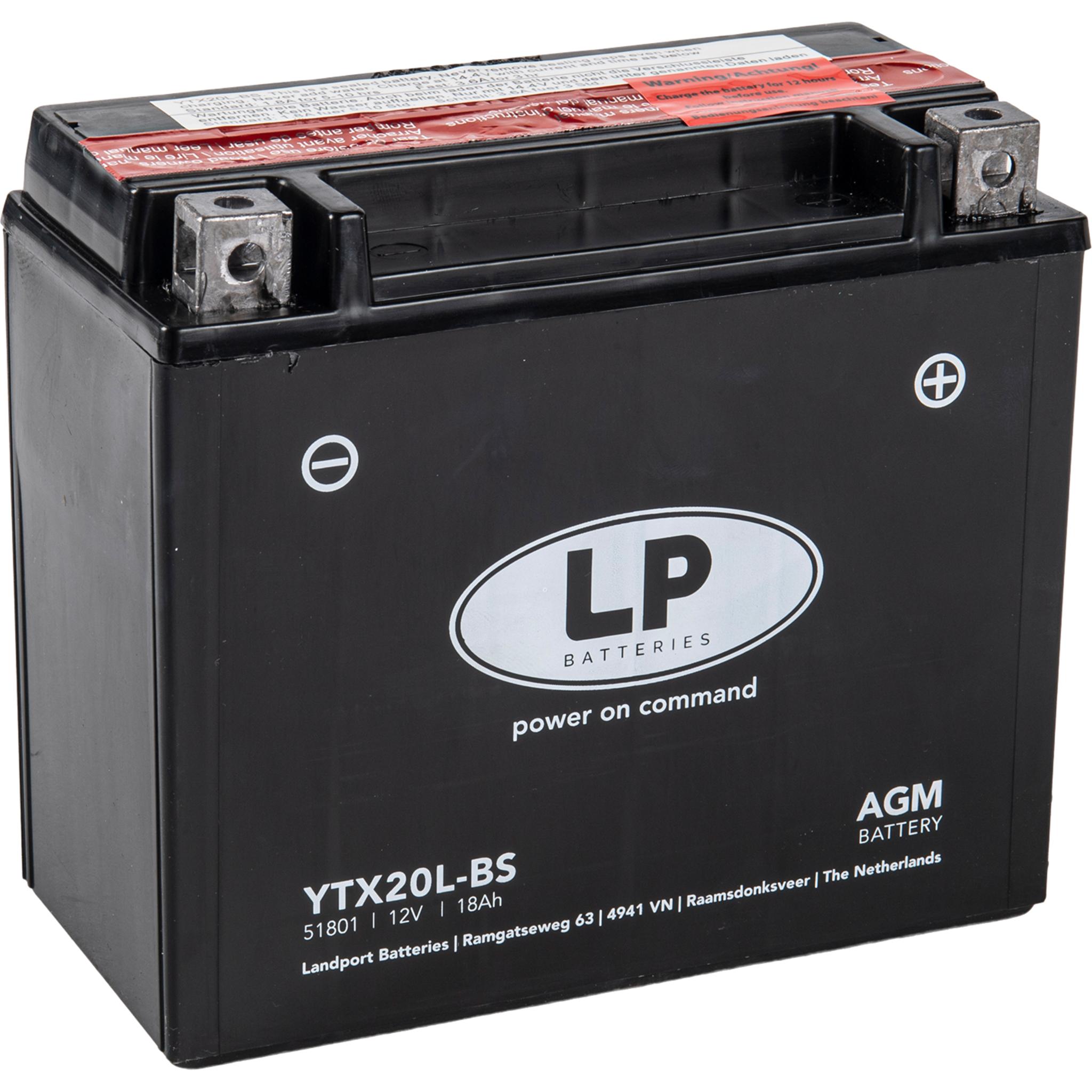 Аккумулятор Landport YTX20L-BS, 12V, AGM