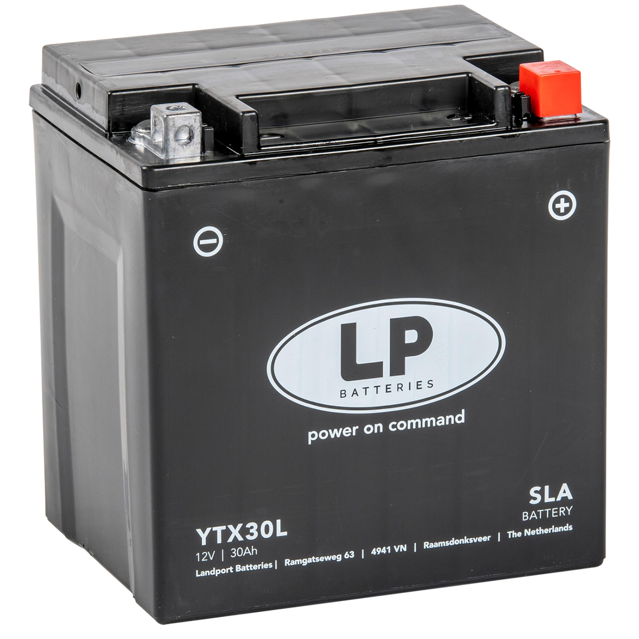 Аккумулятор Landport YTX30L, 12V, SLA