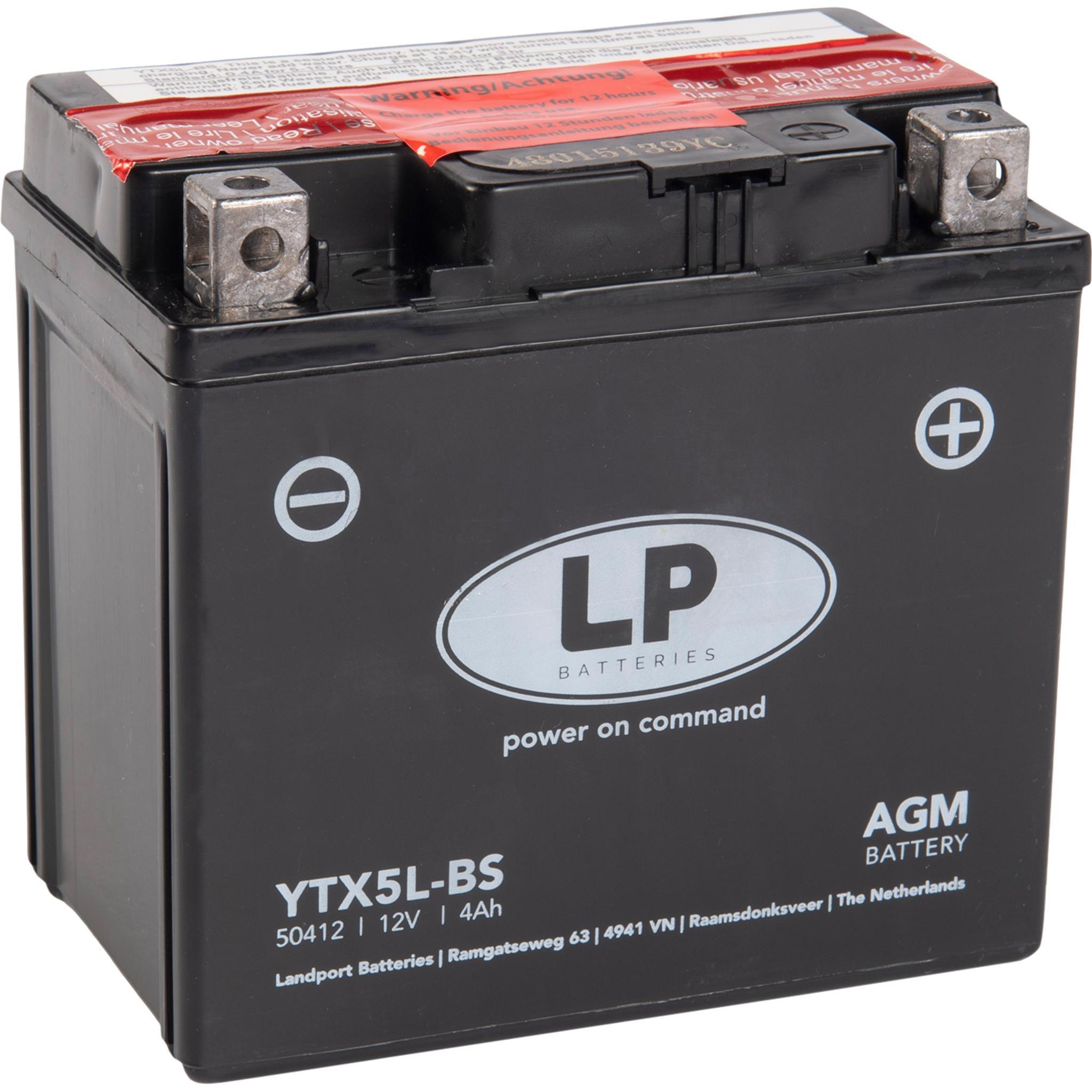 Аккумулятор Landport YTX5L-BS, 12V, AGM