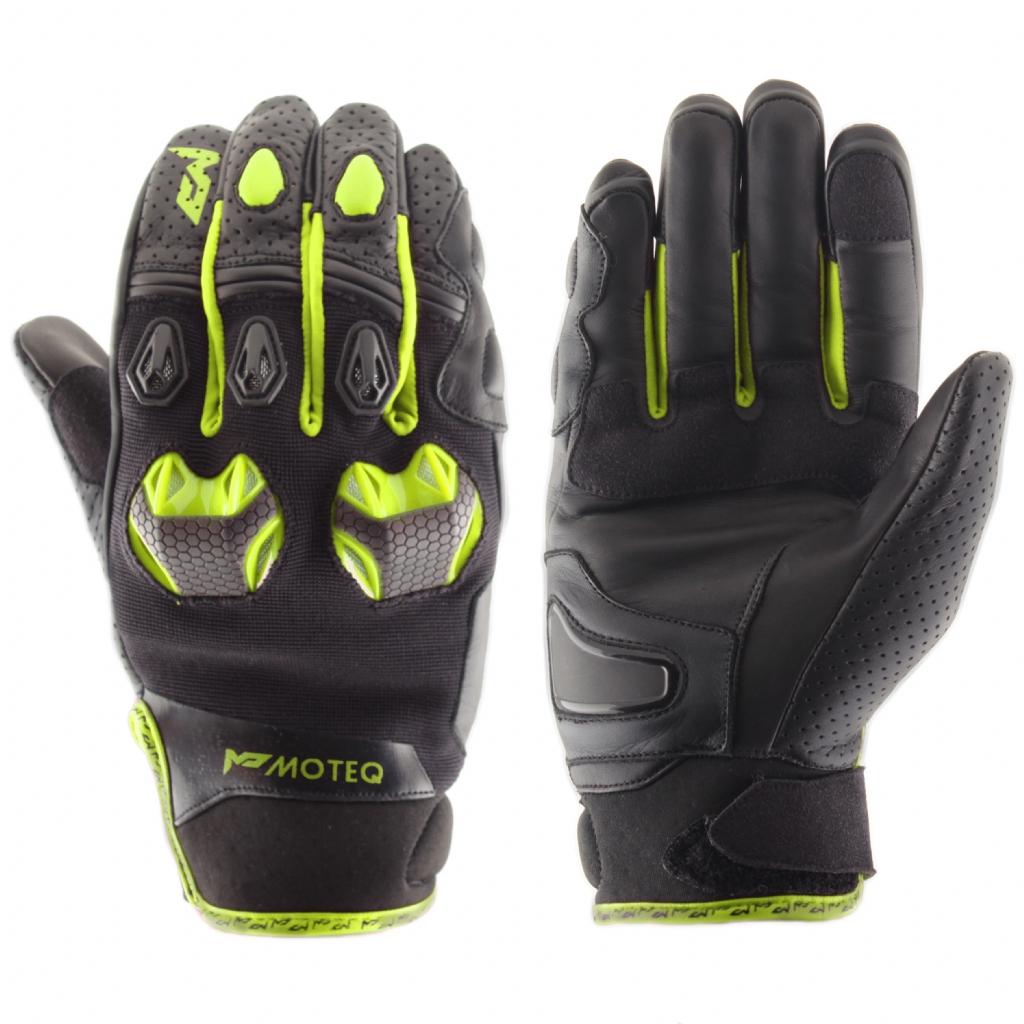 Кожаные перчатки Stinger флуоресцентно-желтые