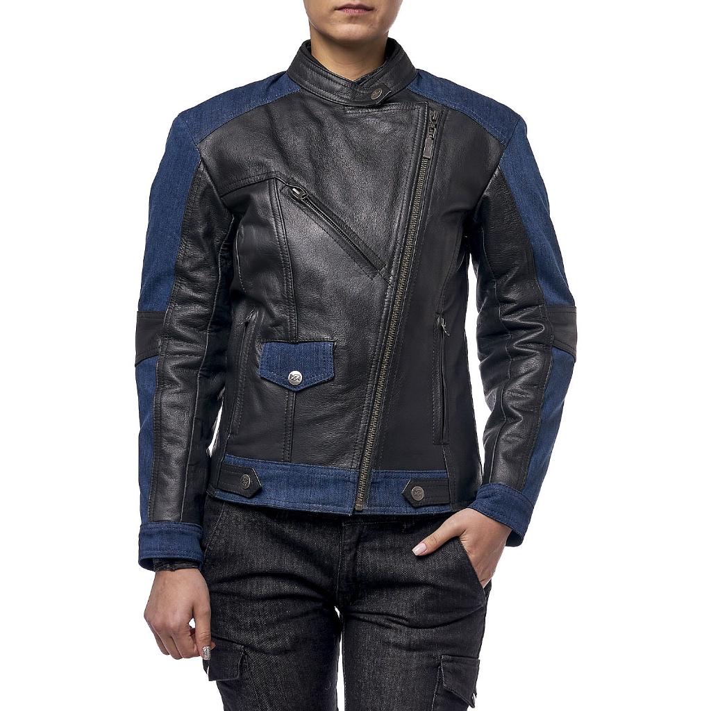 Куртка кожаная  MOTEQ Teacher Jeans, женский