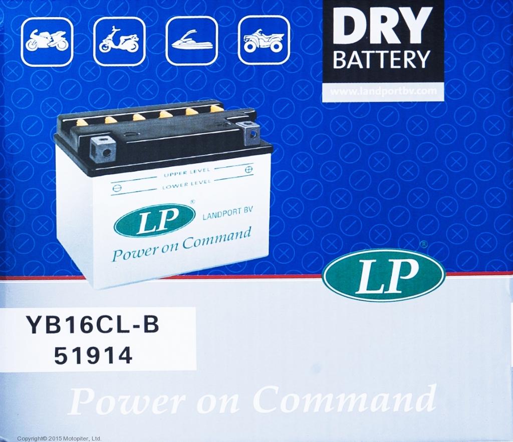 Аккумулятор сухозаряженый DRY YB16CL-B