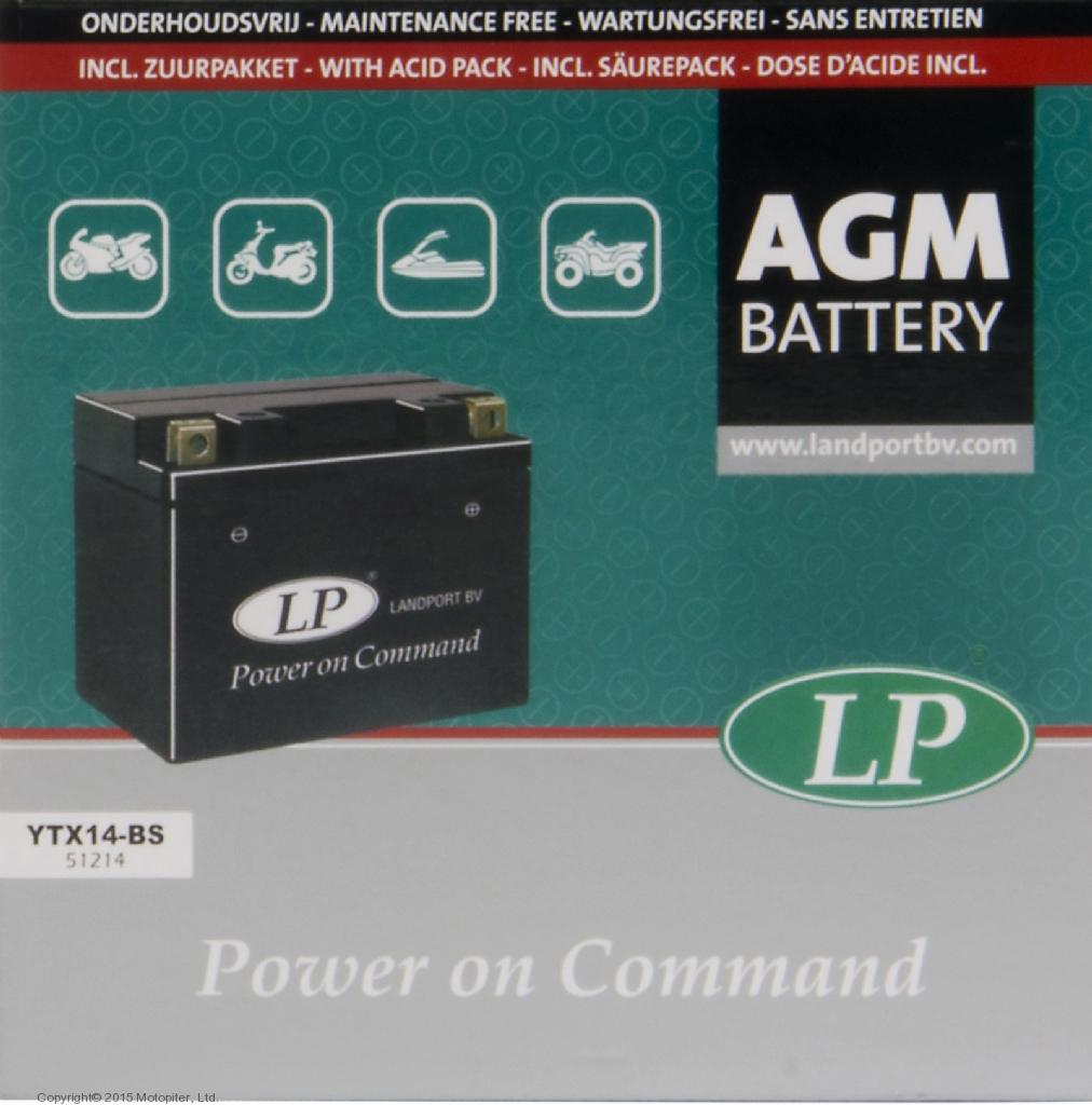 Аккумулятор AGM YT14B-BS