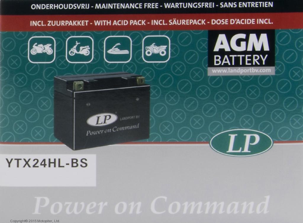 Аккумулятор AGM YTX24HL-BS