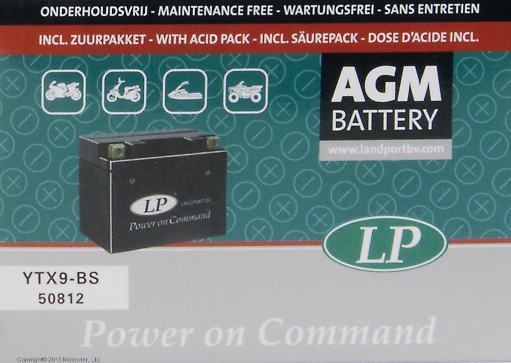 Аккумулятор AGM YTX9-BS