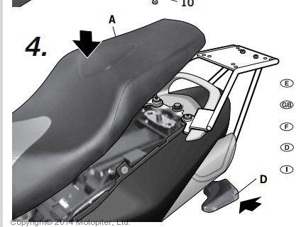 крепление для верхнего кофра SHAD на Suzuki GS R600 (05-11)