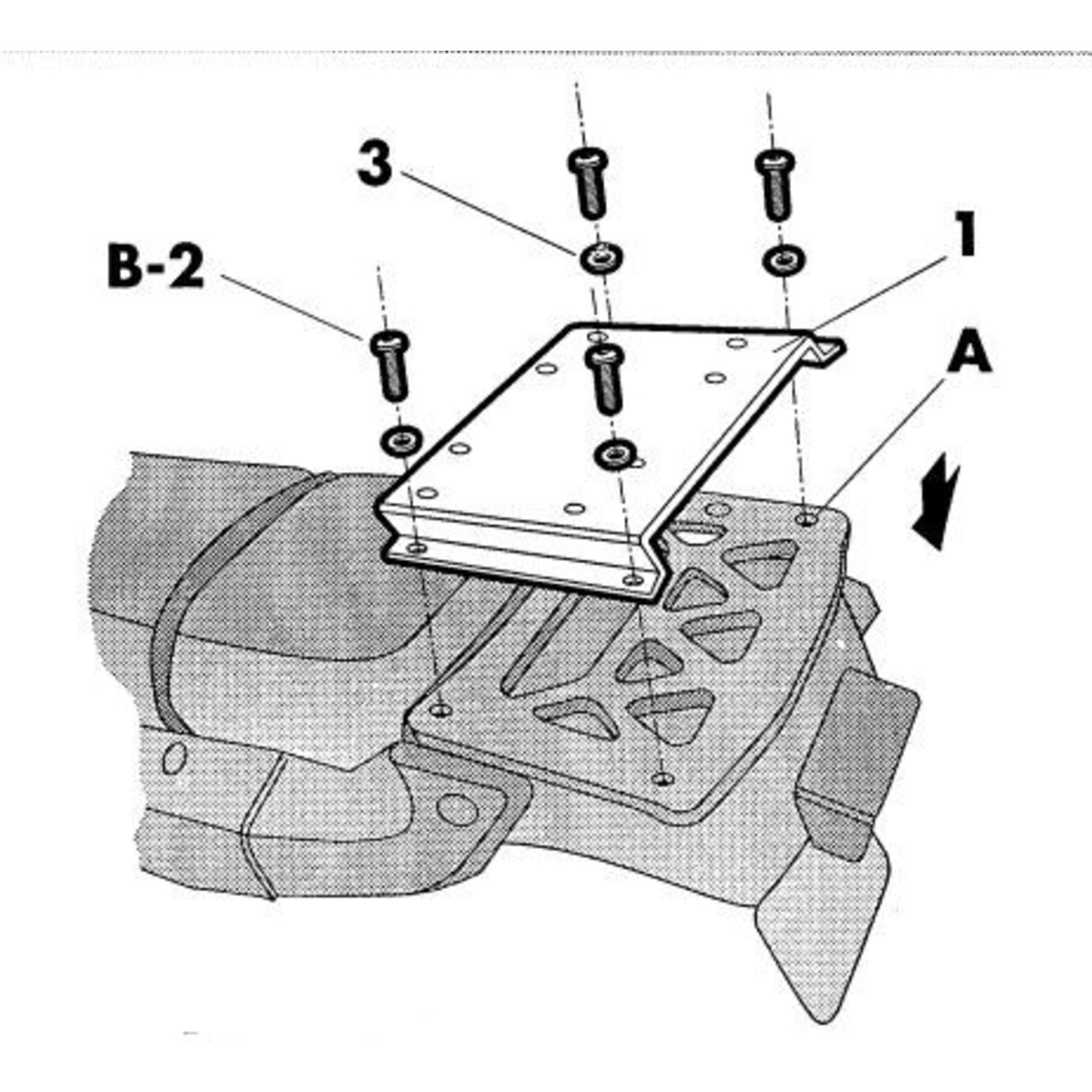 Крепление кофра SHAD Honda AFRICA TWIN 750 - 91/03, задний