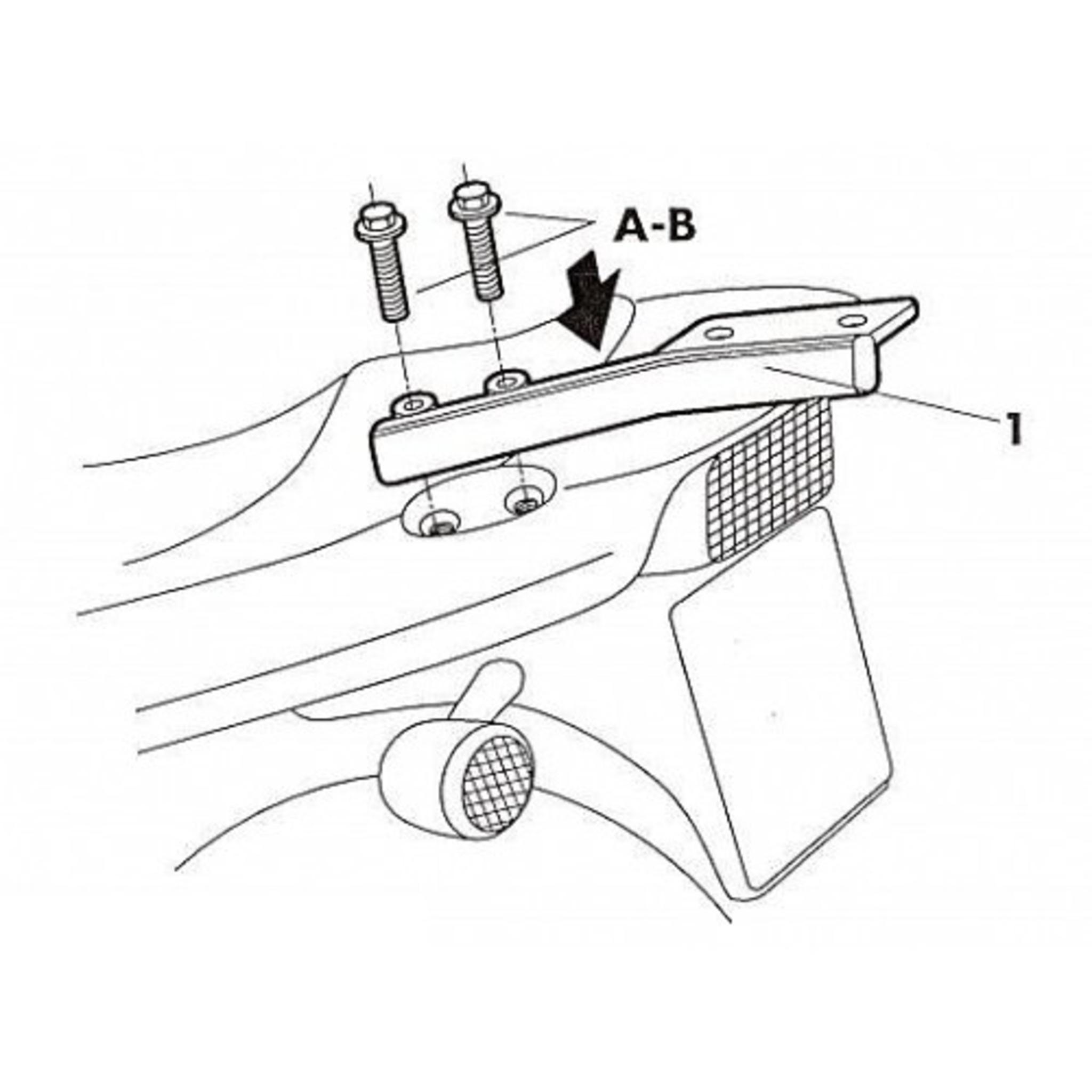 Крепление кофра SHAD Yamaha FAZER 600 (98-00), задний