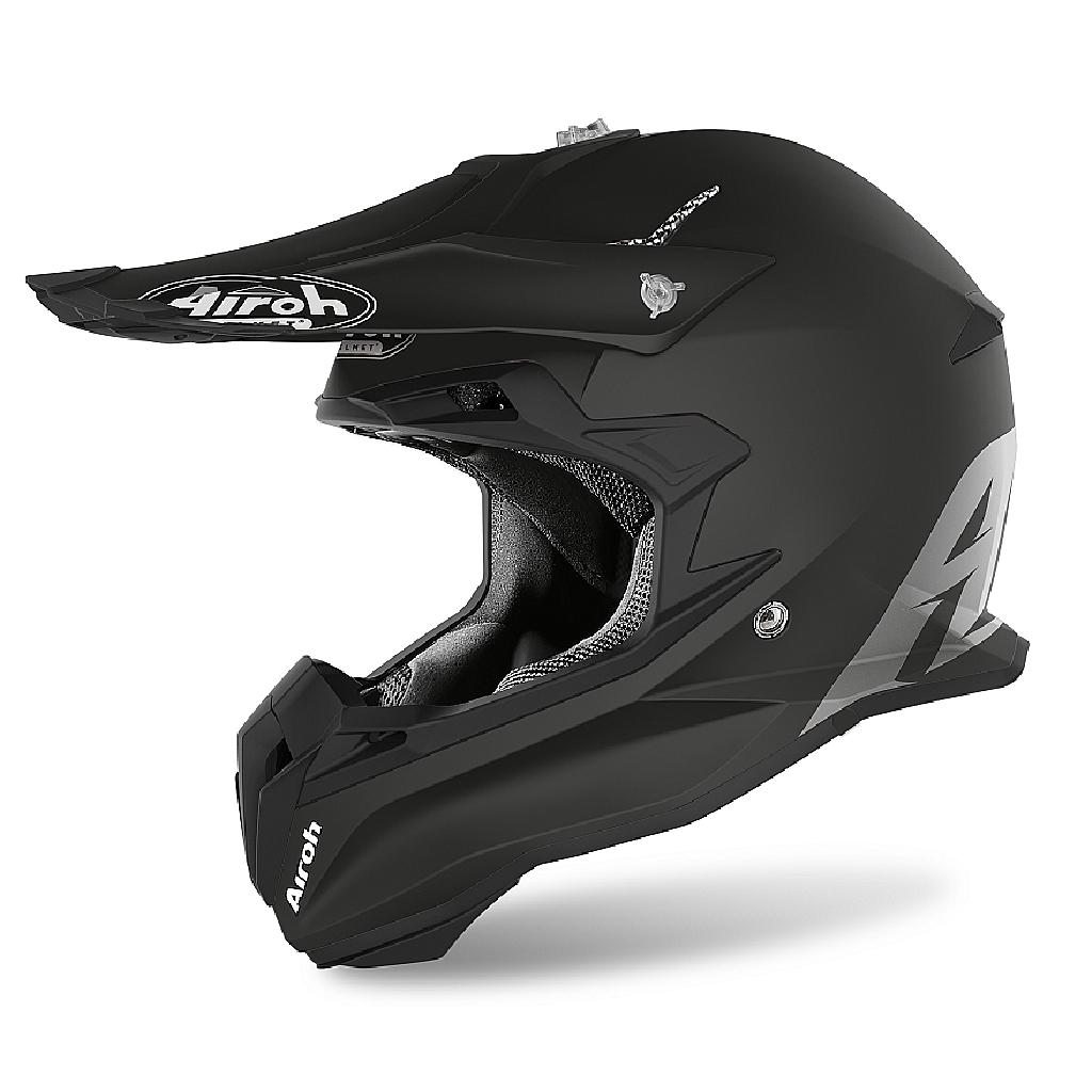 Шлем кроссовый Terminator Open Vision черный