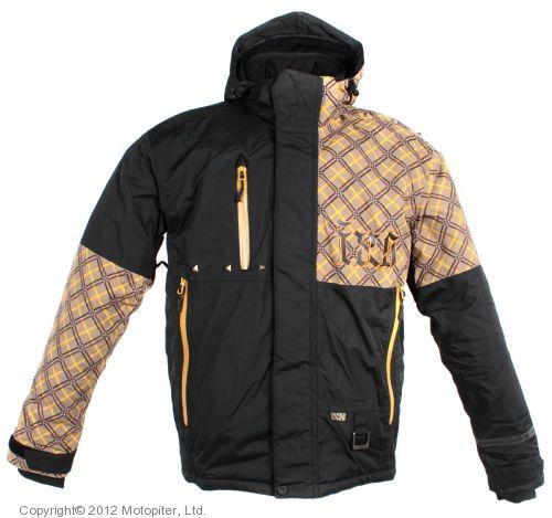 Куртка для езды на снегоходе SQUARE коричневая клетка.