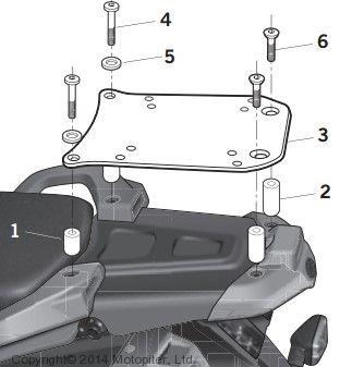 Крепление верхнего кофра на Yamaha TENERE XT 660 Z - 08/15