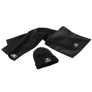 Комплект из шапки и шарфа, черный