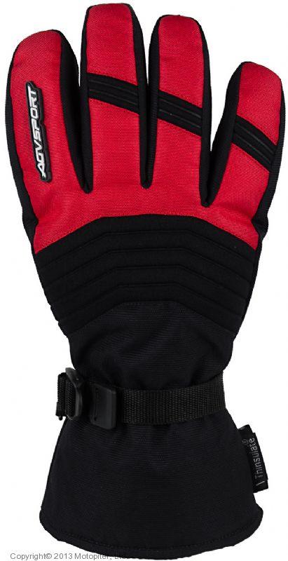 Снегоходные перчатки Kapay, черный\красный