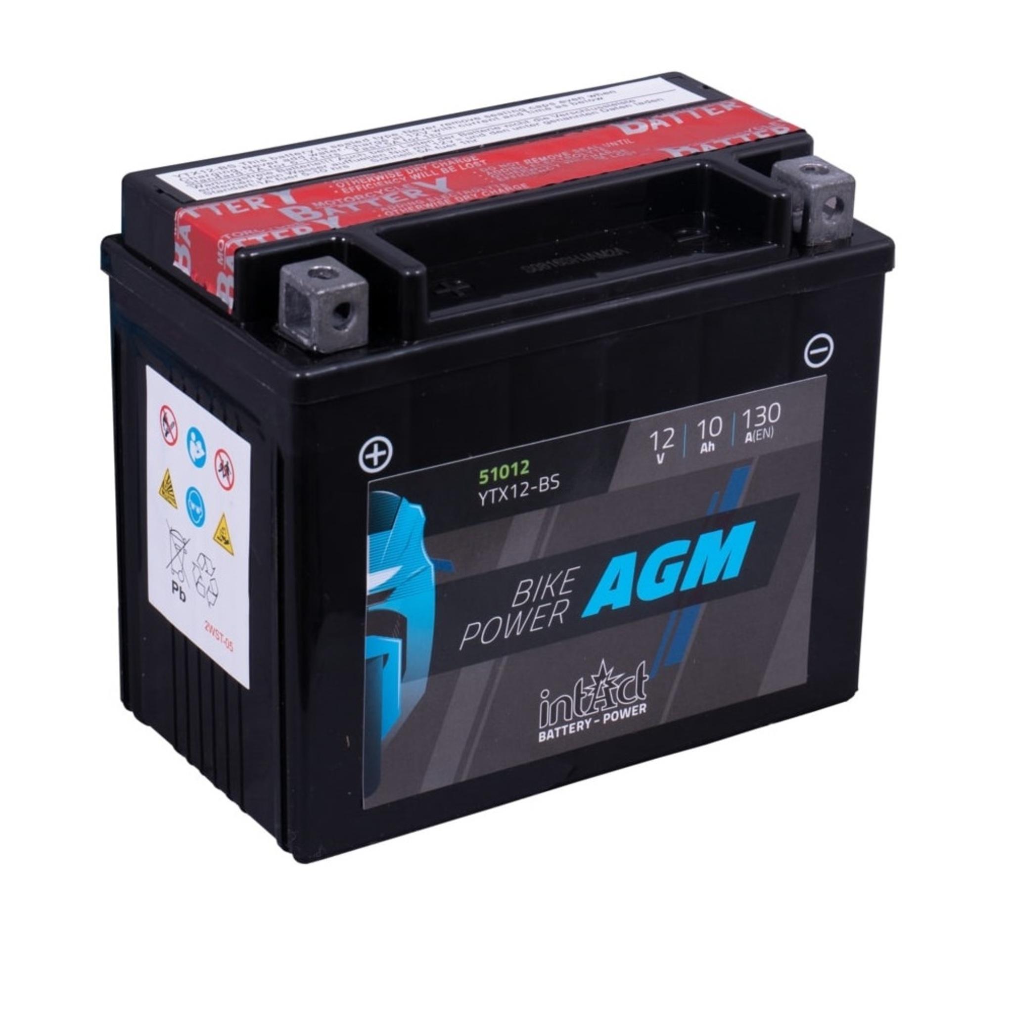 Аккумулятор intAct IA YTX12-BS, 12V, AGM