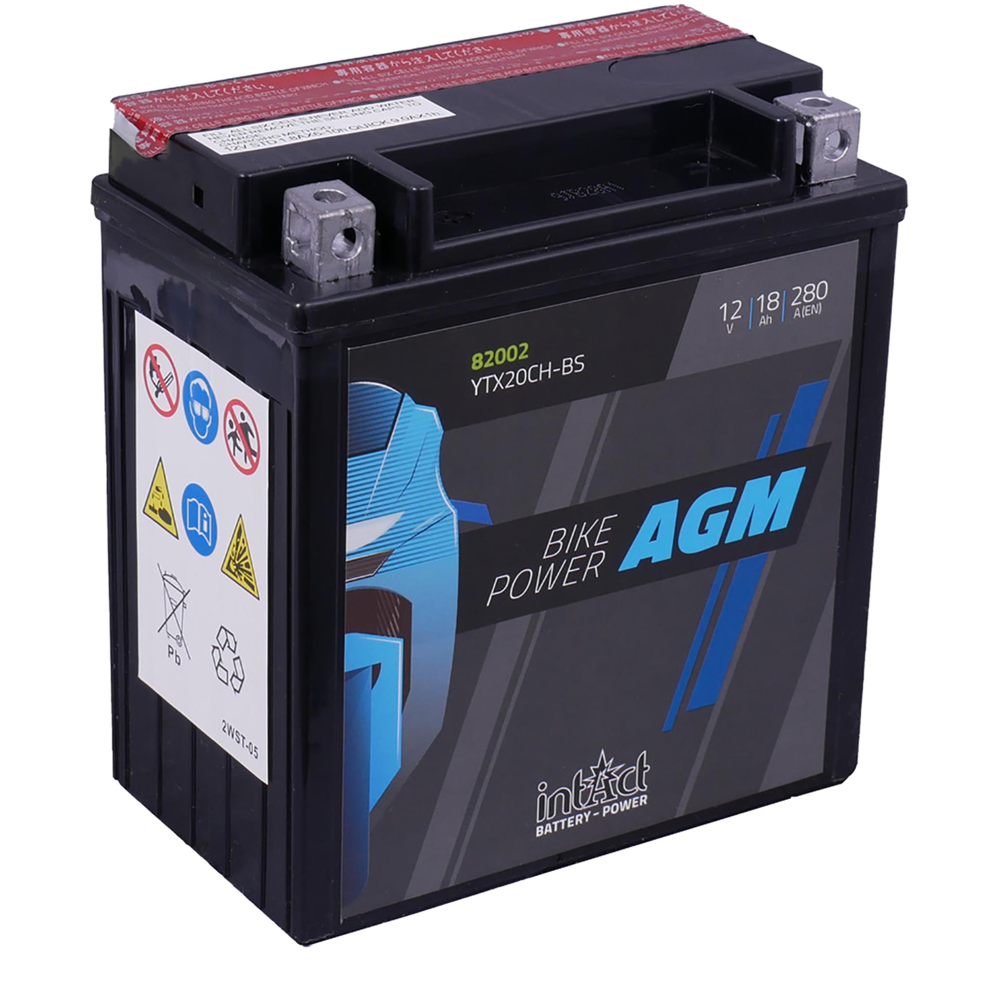 Аккумулятор intAct IA YTX20CH-BS, 12V, AGM