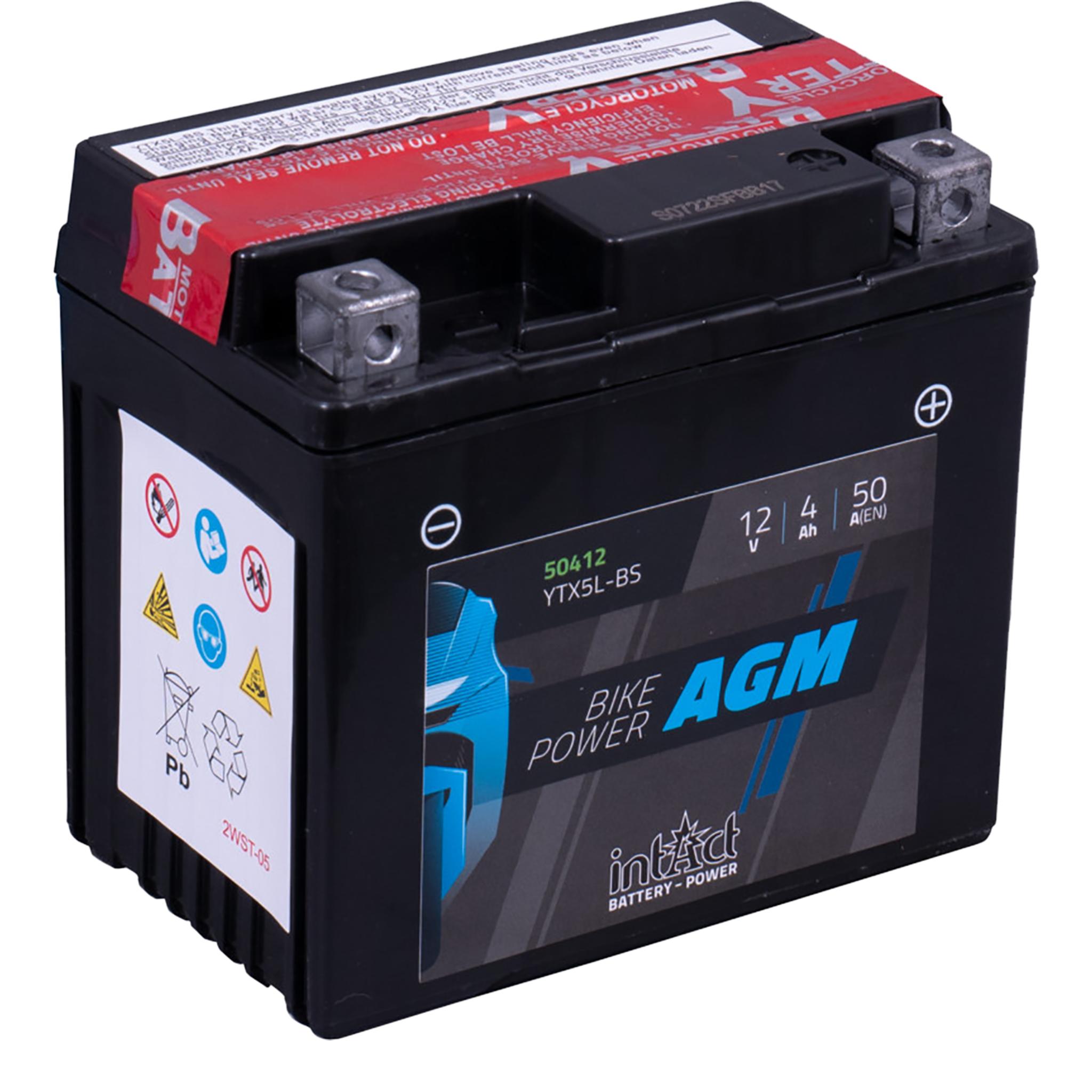 Аккумулятор intAct IA YTX5L-BS, 12V, AGM
