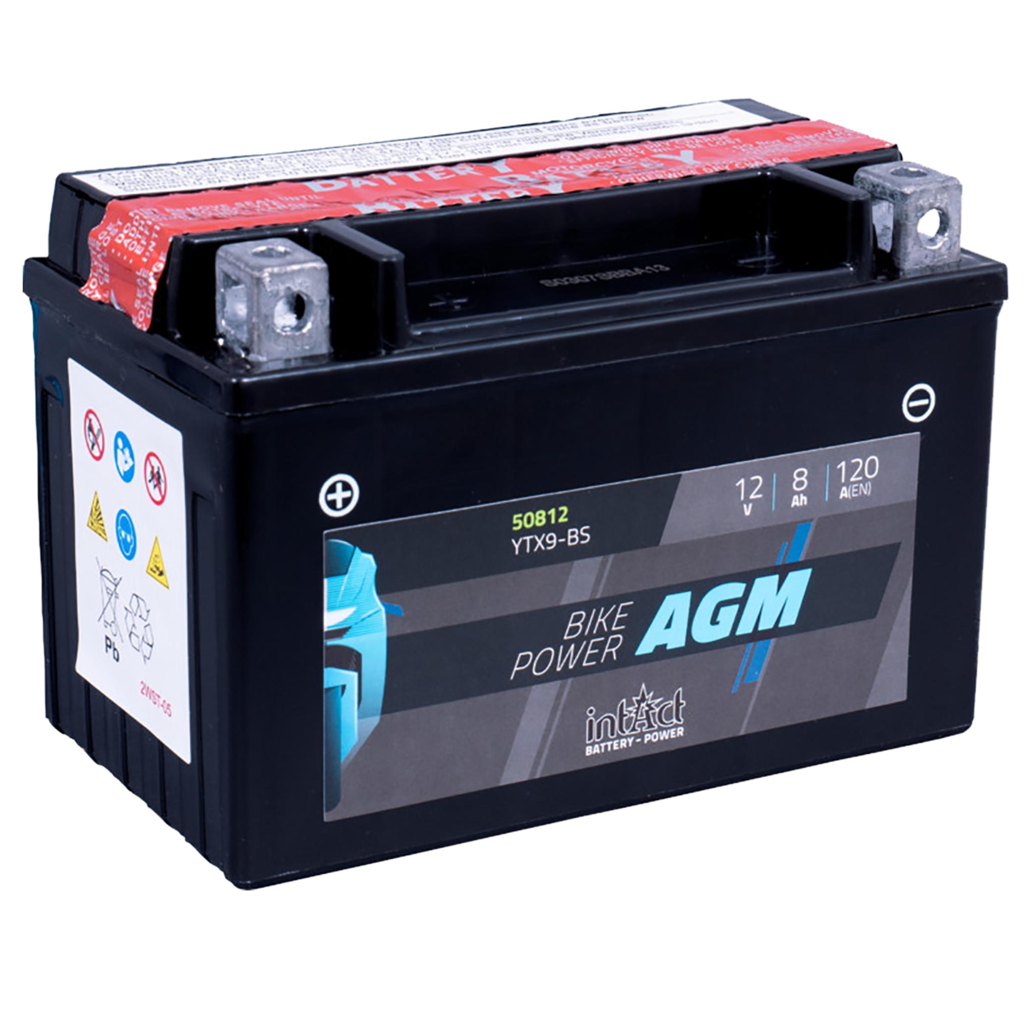 Аккумулятор intAct IA YTX9-BS, 12V, AGM