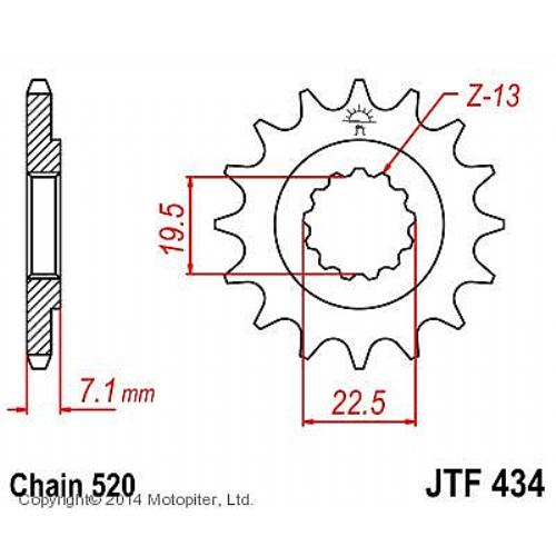 Звезда ведущая , JT 434.13