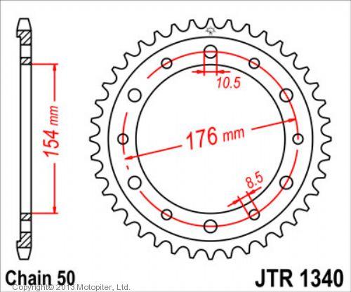 Звезда задняя (ведомая),(сталь) JT 1340.43