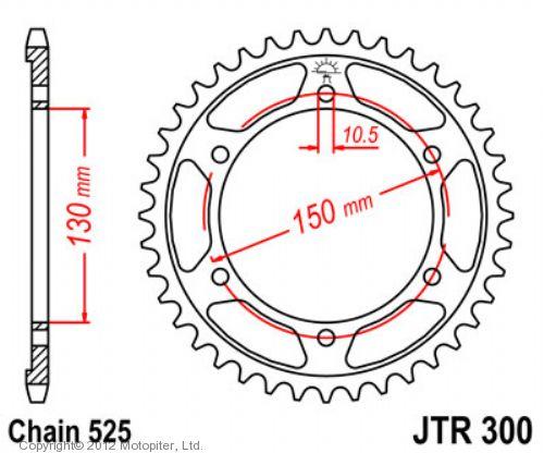 Звезда задняя (ведомая),(сталь) JT 300.39