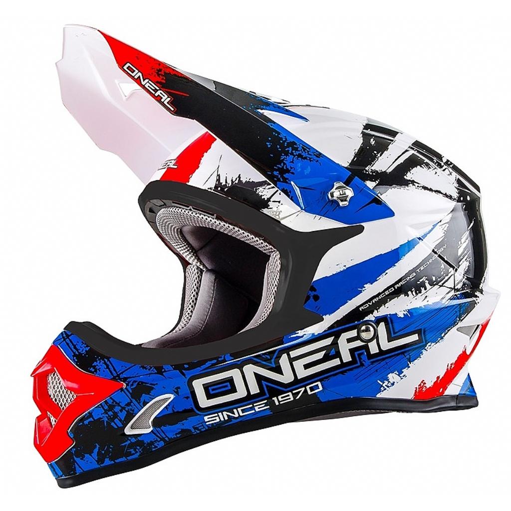 Кроссовый шлем 3Series SHOCKER чёрно-сине-красный