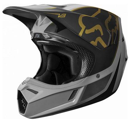 Fox V3 Kila Helmet Navy/Yellow